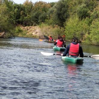 Kayak sul fiume Liscia