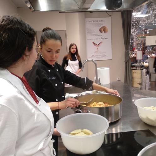 Cooking Class Sardina in cucina
